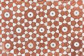 vintage brown floral pattern floor tile