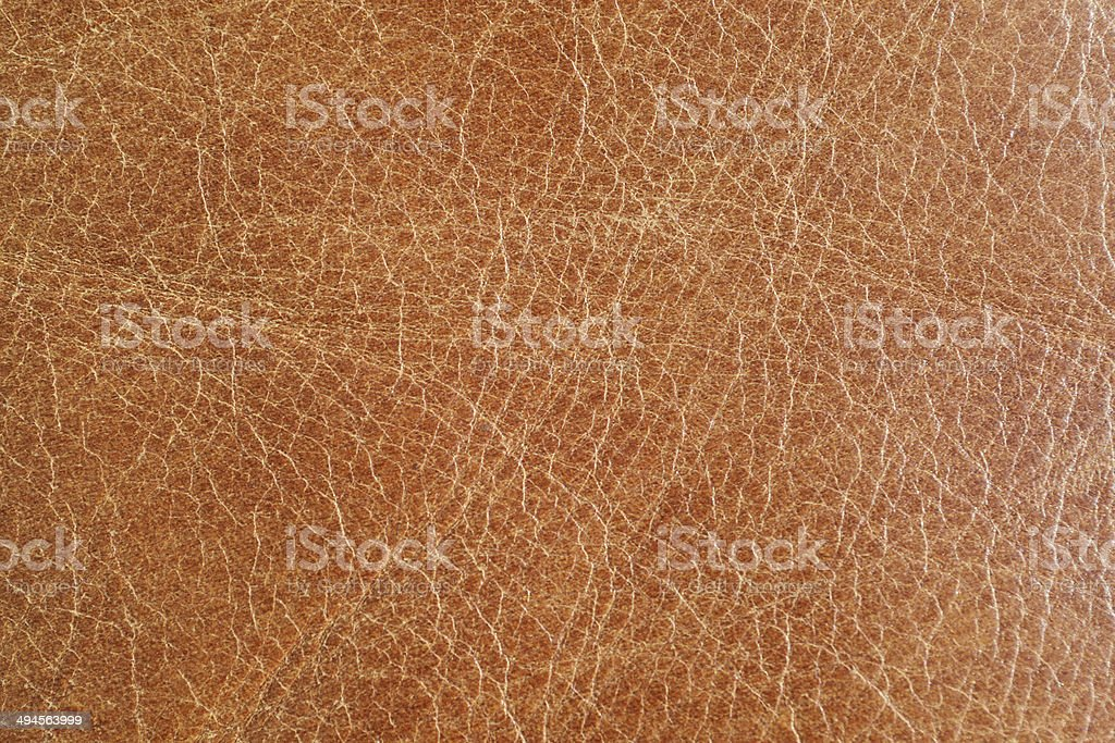 Vintage Brown Leather stock photo