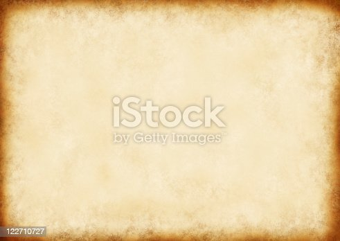 istock Vintage brown paper background with dark border 122710727