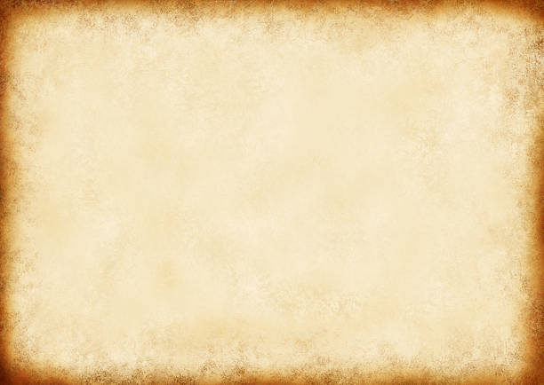 vintage brown paper background with dark border - scroll stock photos and pictures