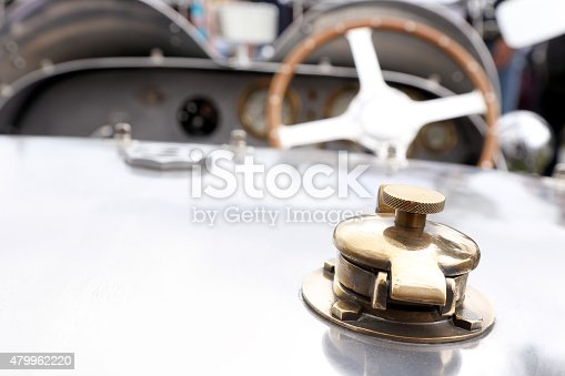 467735055 istock photo Vintage Bugatti gas tank cap 479962220