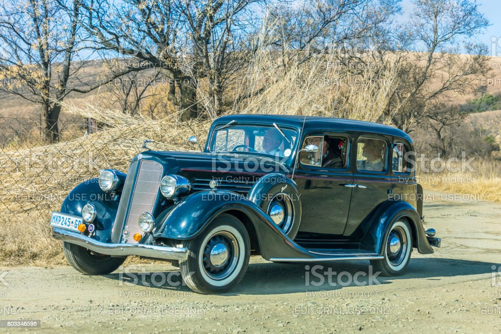 Vintage Buick from the Vintage and Veteran Club stock photo