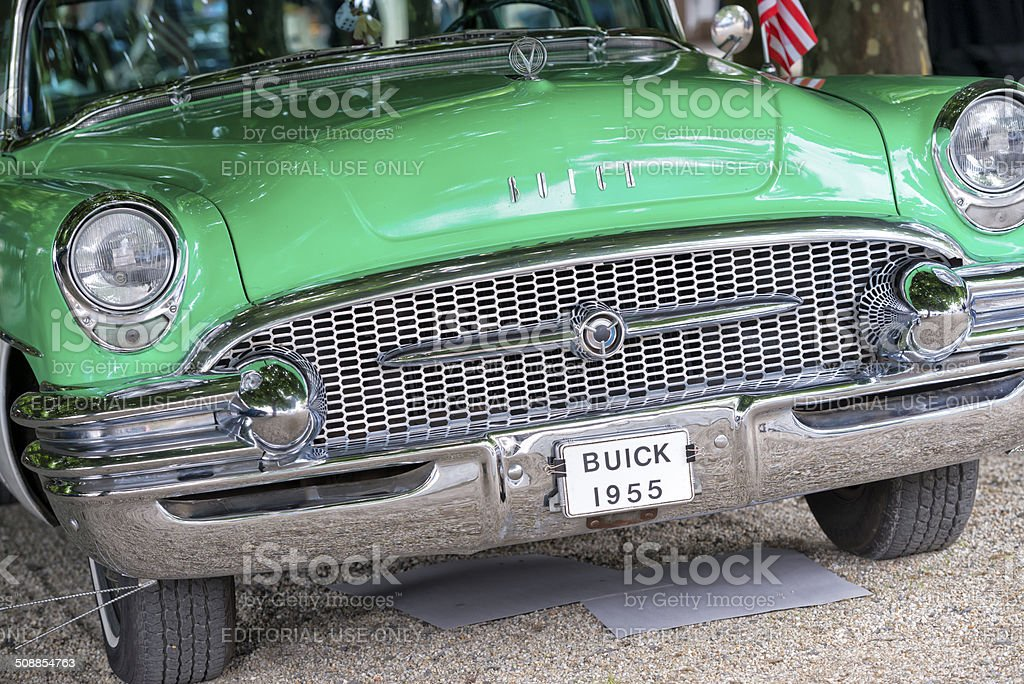 Vintage Buick Hood and Grille 1955 stock photo