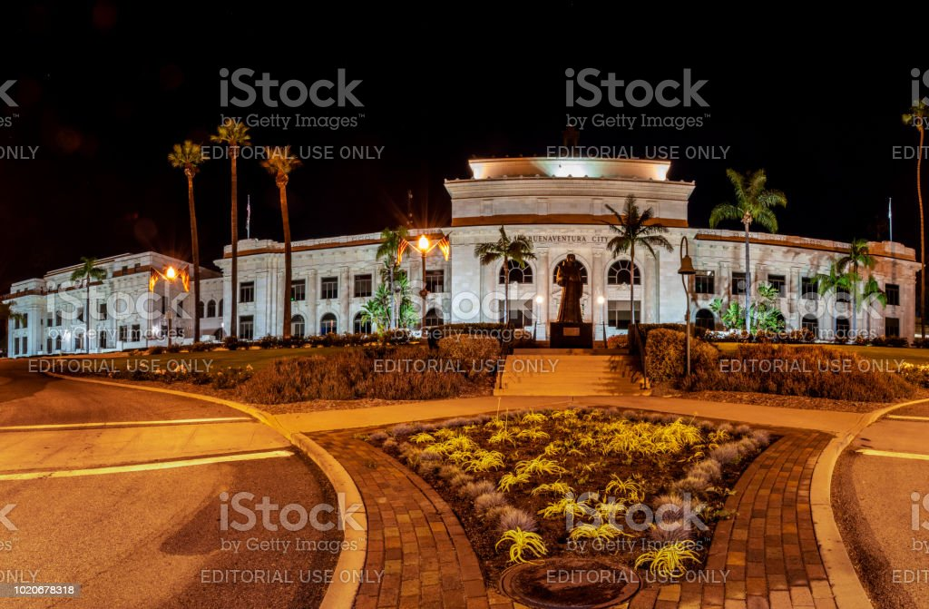 Vintage Building with Modern Politics. stock photo
