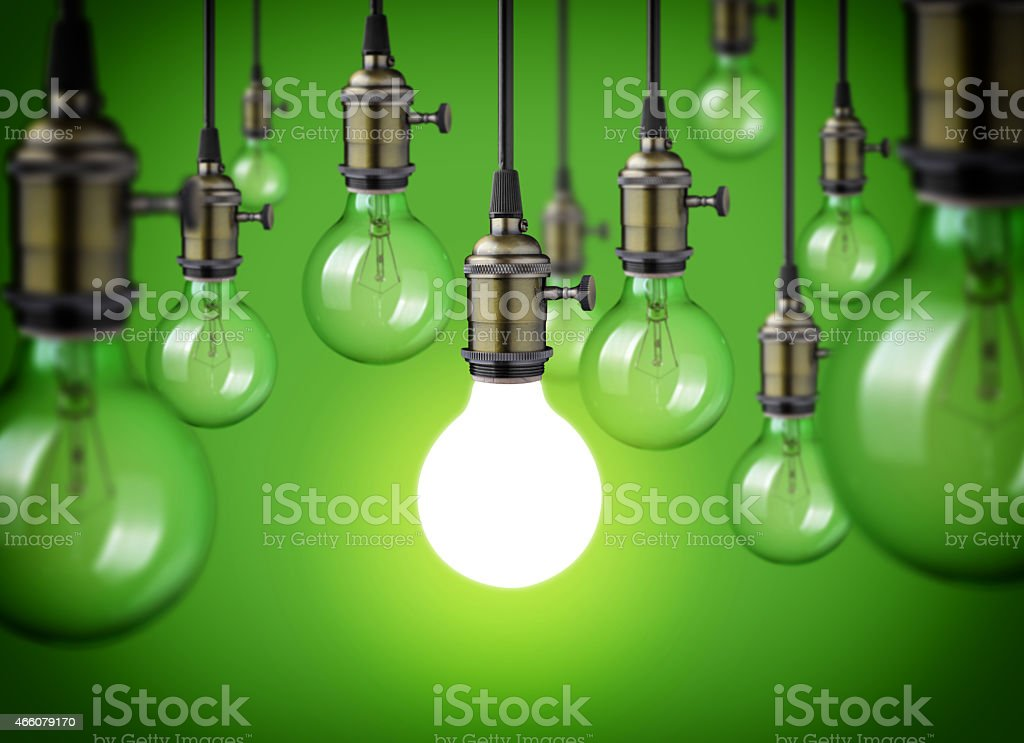 vintage bulbs stock photo