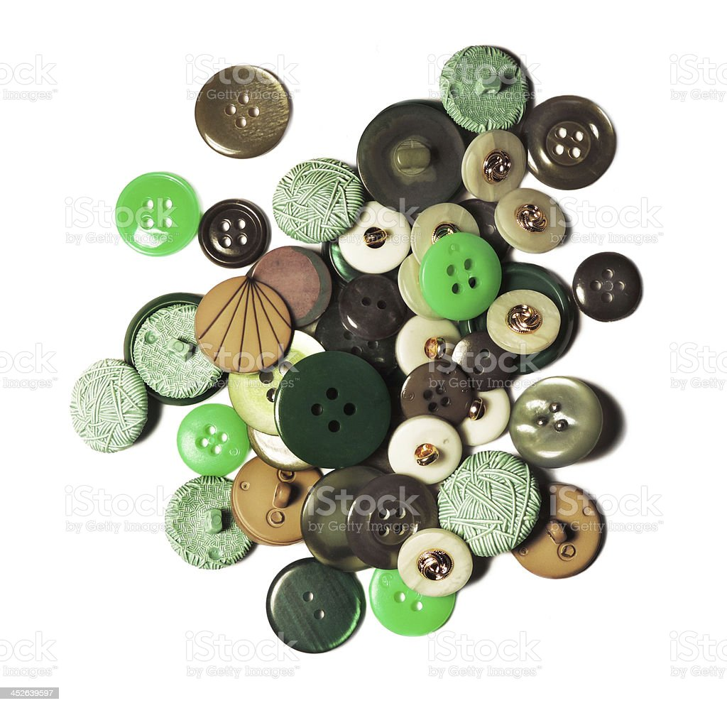 vintage buttons stock photo