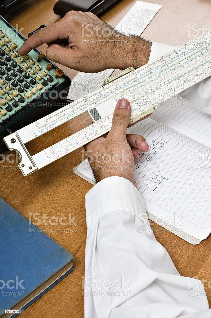 Vintage Calculation Devices royalty-free stock photo