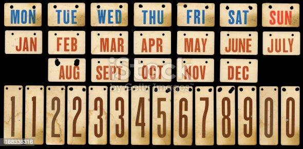 vintage cards from an old desktop calendar