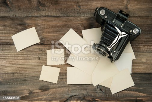 609706398 istock photo vintage camera and old photos on wooden background 478339505