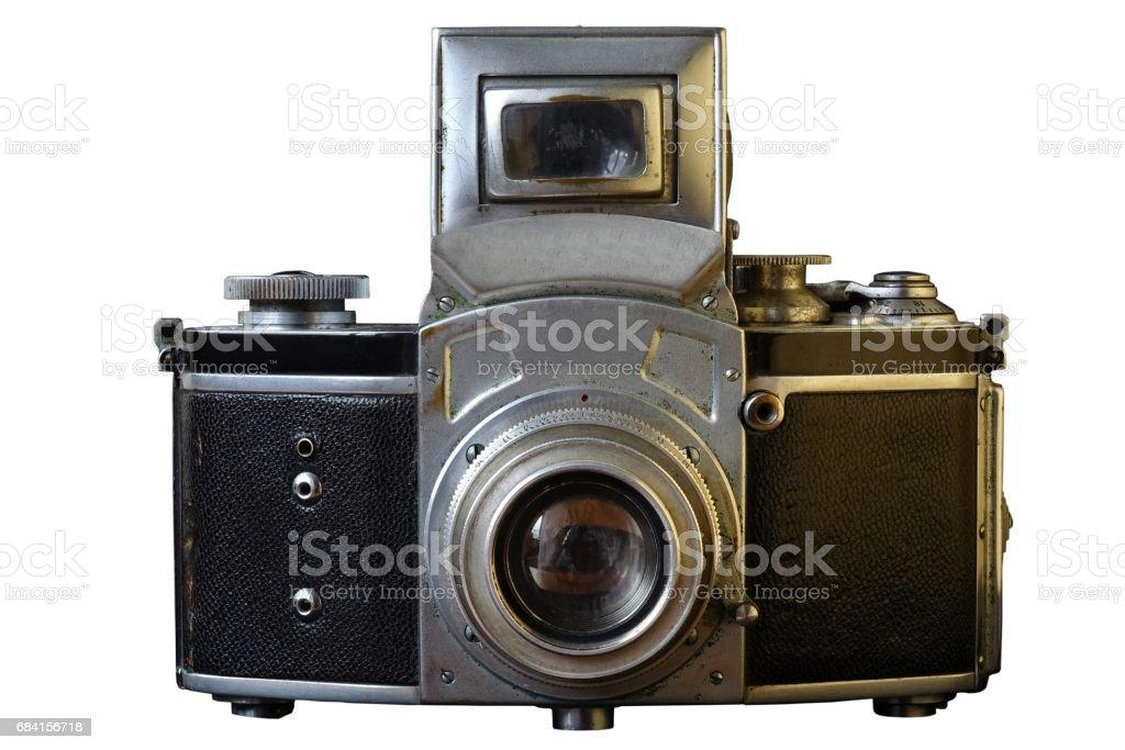 Vintage Camera. Old photo. royaltyfri bildbanksbilder