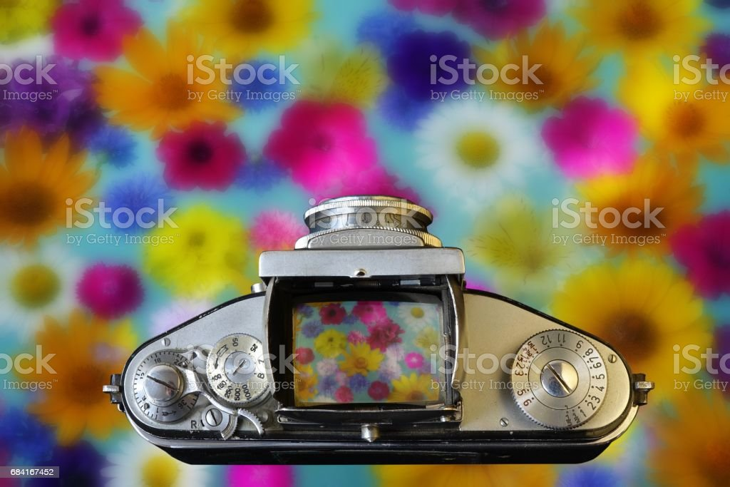 Vintage Camera. Old photo. foto stock royalty-free