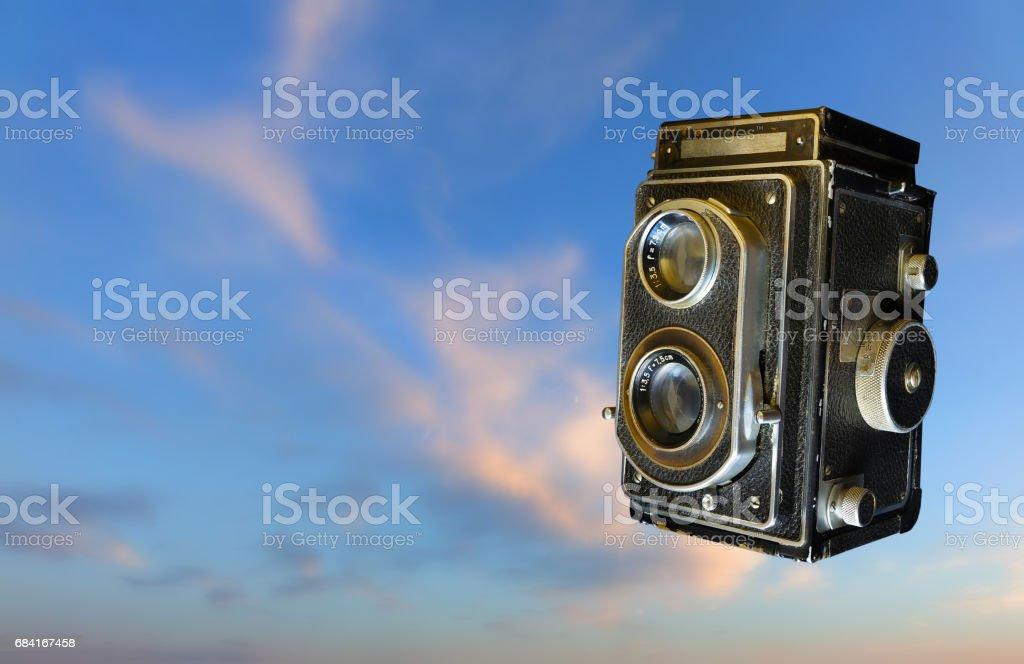 Vintage Camera. Old photo. foto stock royalty-free