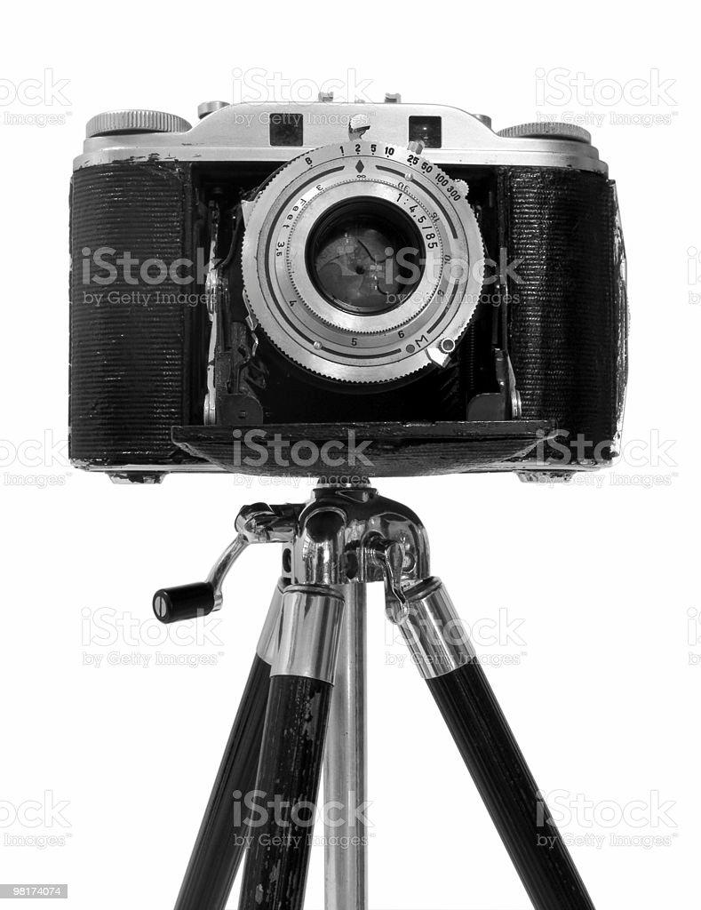 Vintage Camera on tripod royalty-free stock photo