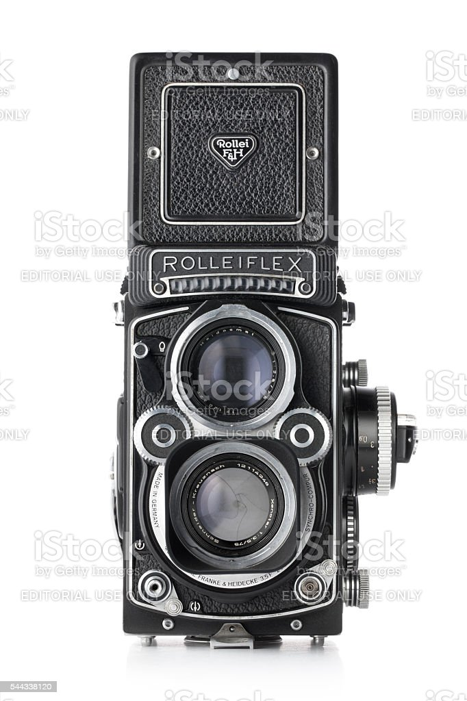 Photo Vintage. Rolleiflex, format moyen 6 x 6 cm. - Photo