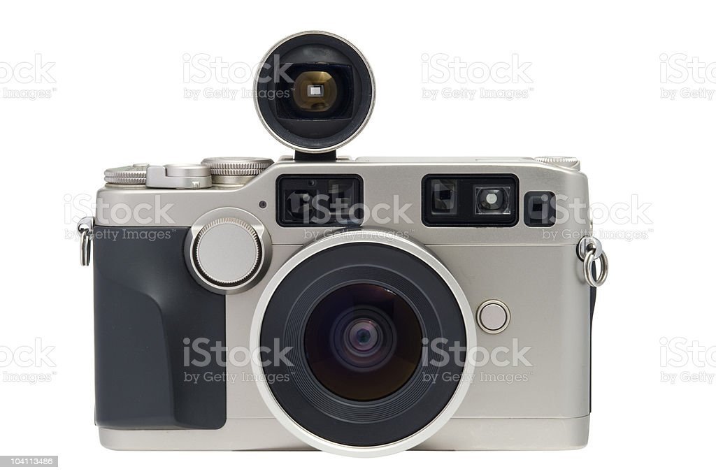 Vintage camera w / clipping path. stock photo
