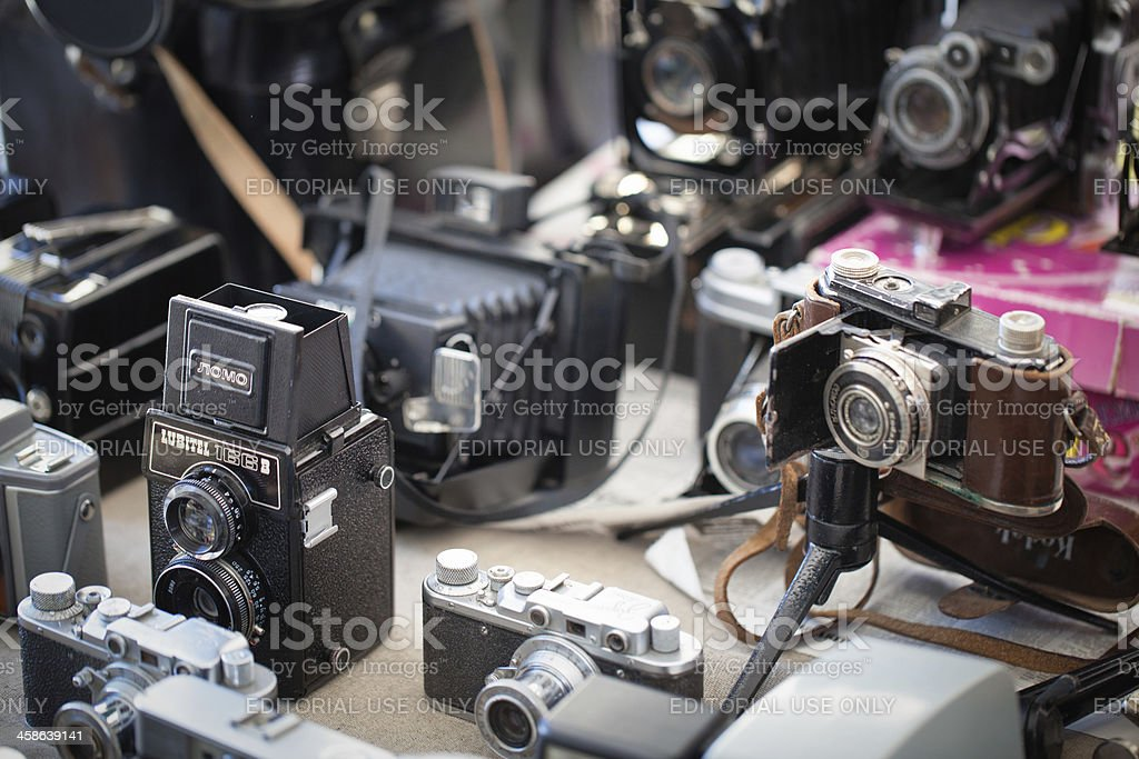 Vintage cameras royalty-free stock photo