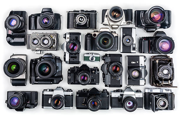 vintage-kameras. - sinn uhren stock-fotos und bilder