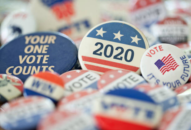 Vintage Campaign Buttons 2020 stock photo