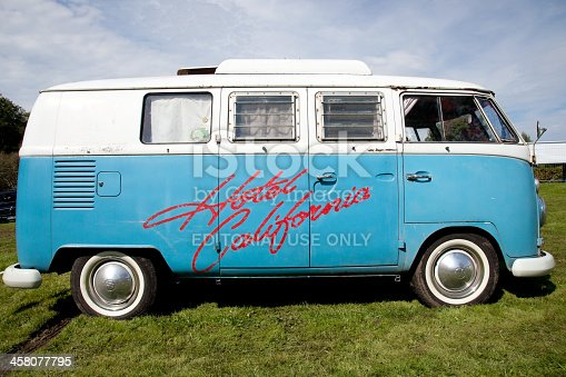 munich, Germany - September 17, 2011: Vintage camping car. Volkswagen camping bus T1 built in the sixties.