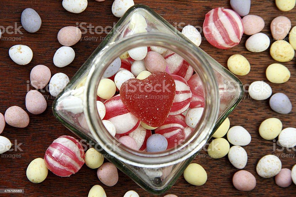 Vintage cioccolato in un barattolo di vetro foto stock royalty-free