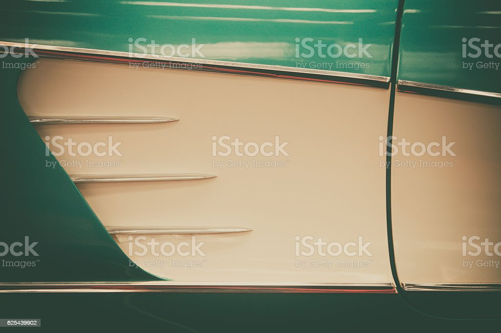 Vintage car air vent stock photo