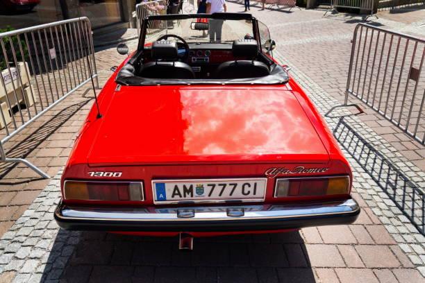 Oldtimer Alfa Romeo 1300 Cabriolet Oldsmobile Veteran Vorbereitung für Saalbach Classic Rallye – Foto