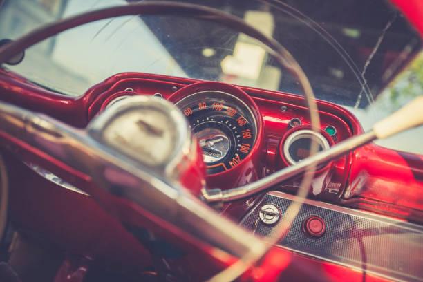 vintage car detail, cuba stock photo