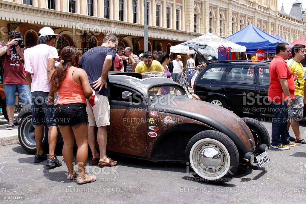 vintage car fair stock photo