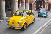 vintage car Fiat 500 Abarth