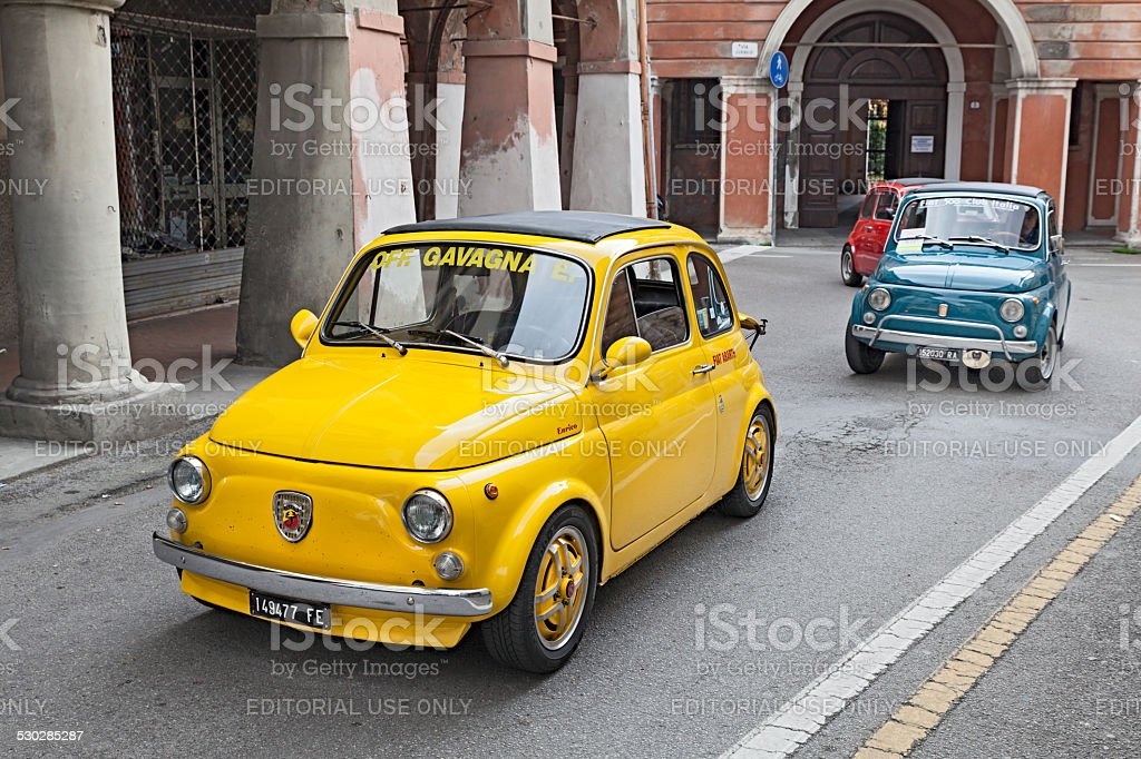 vintage car Fiat 500 Abarth stock photo