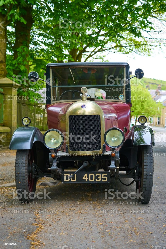 Huddersfield, UK - 2018: Vintage Car - front view royalty-free stock photo