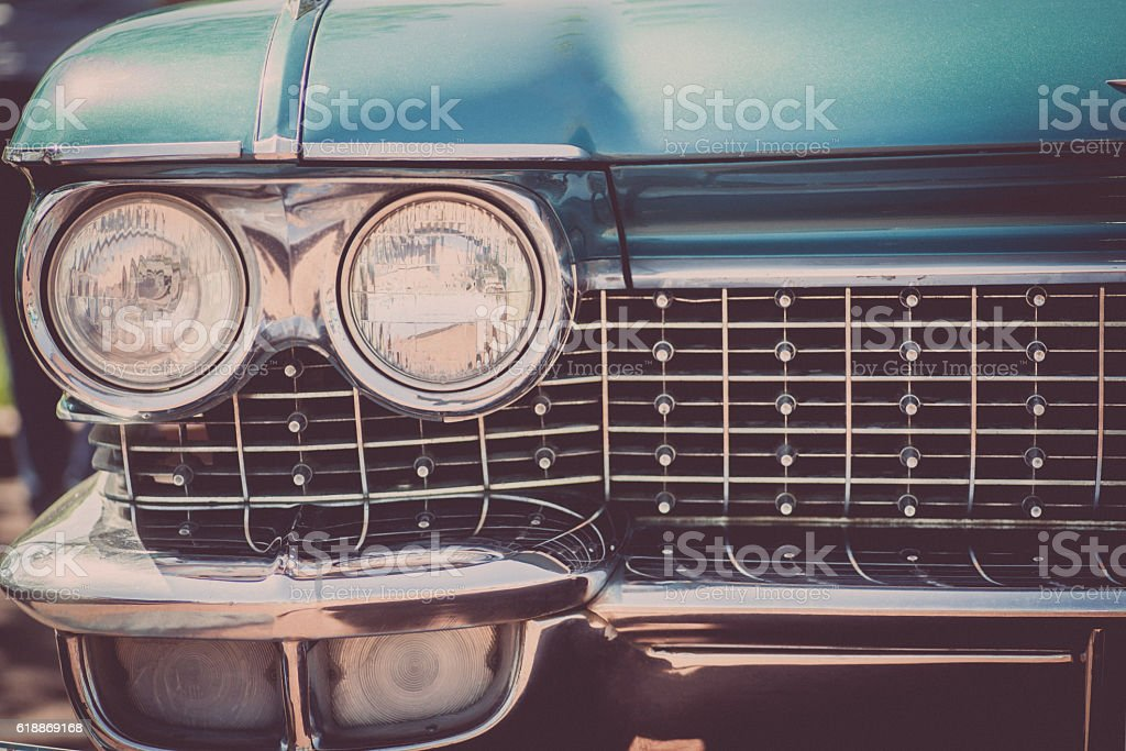 Vintage car headlight stock photo