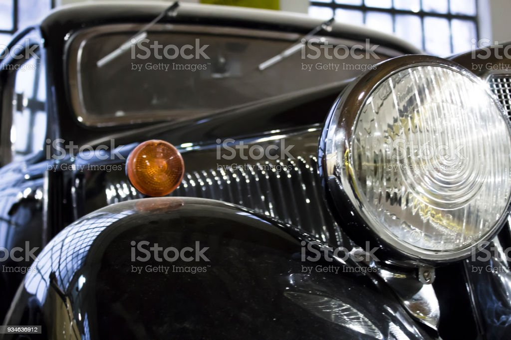 Vintage Car Headlight Stock Photo & More Pictures of American ...