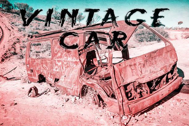 vintage car in australia stock photo