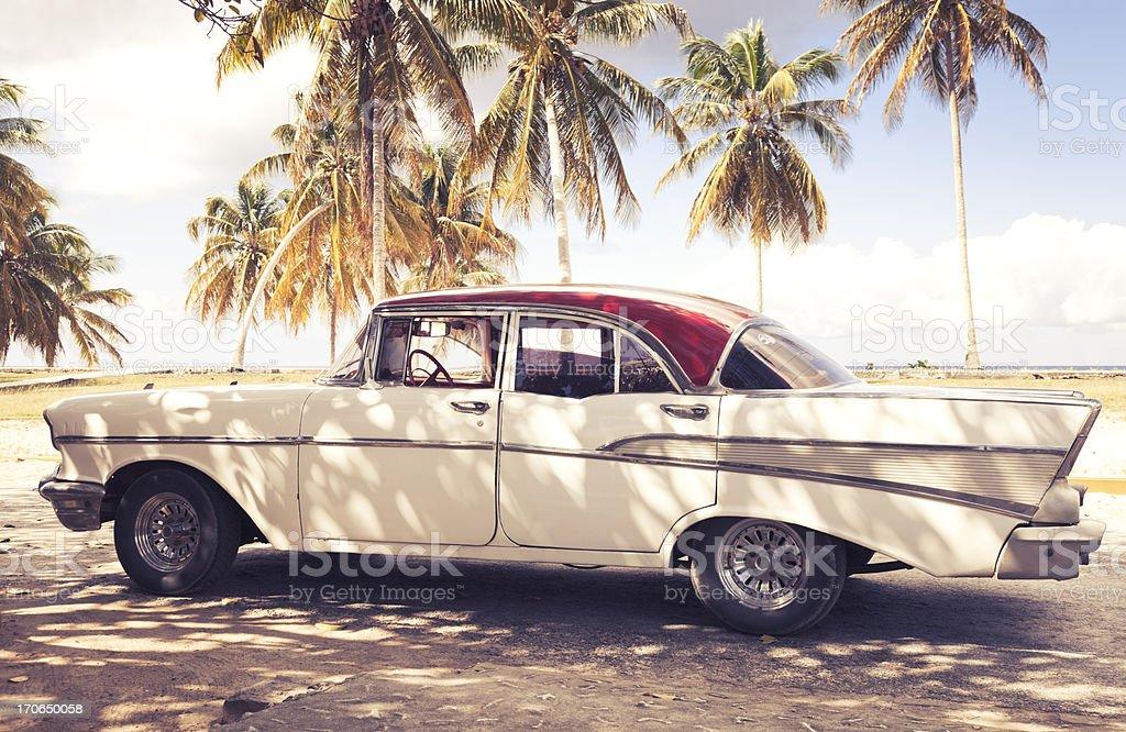 Vintage Car in Cuba stock photo