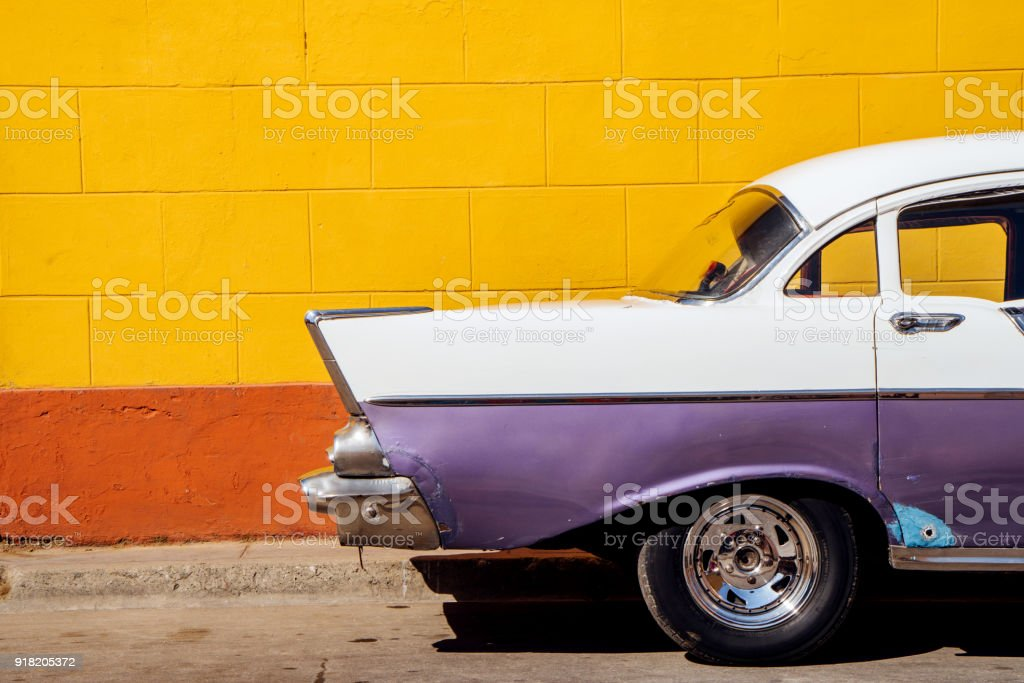Vintage Car in Havana, Cuba stock photo