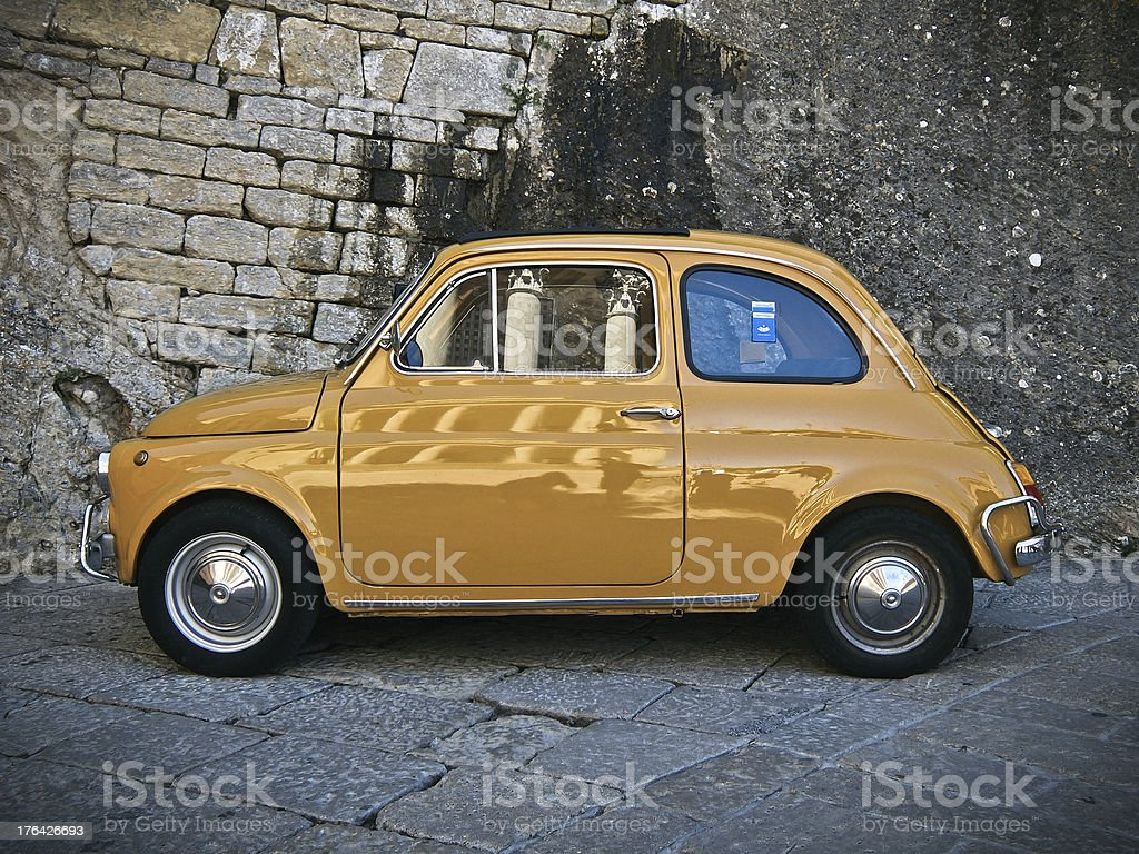 Vintage car in Italy stock photo