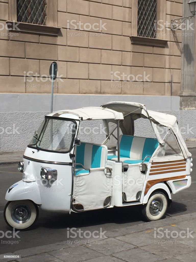Vintage car in Palermo stock photo