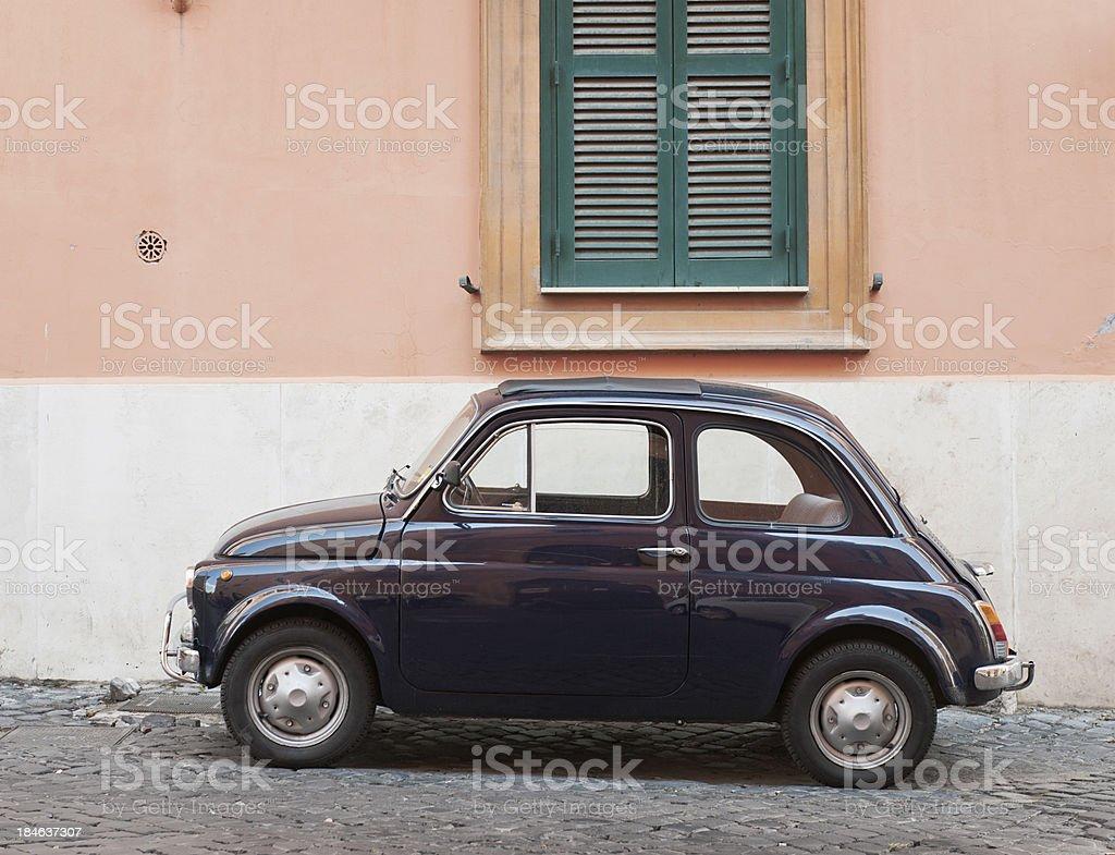 Vintage Car in Rome stock photo