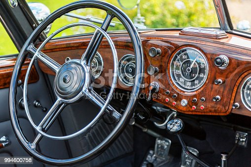 467735055 istock photo Vintage Car Interior 994600758