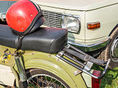 DDR vintage car moped and car