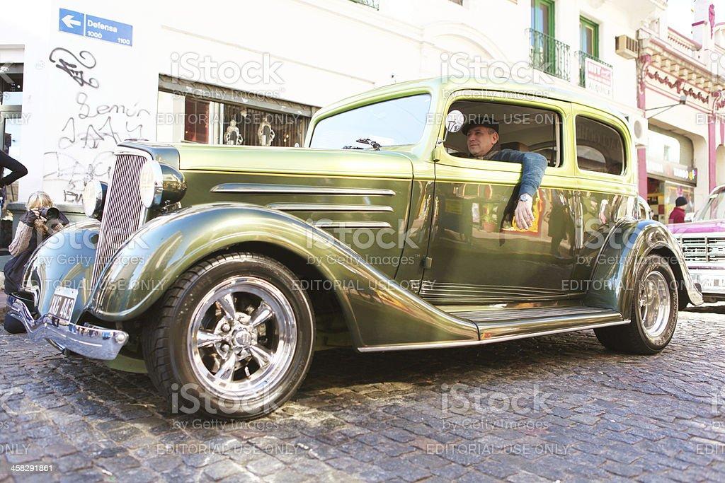 vintage car parade royalty-free stock photo