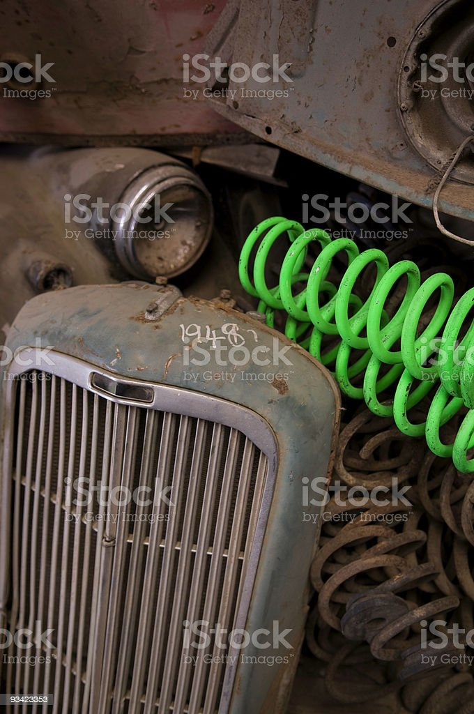 Vintage Car Parts royalty-free stock photo