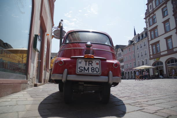 Vintage car Trier, Germany, - July 14, 2018. Vintage BMW car parked in the city on a warm summer day. 1960 1969 stock pictures, royalty-free photos & images