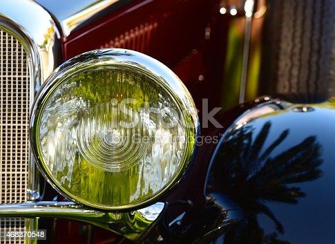 headlight on a collector car