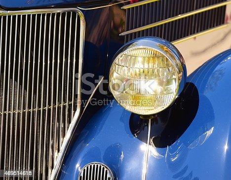 headlight on collector's car
