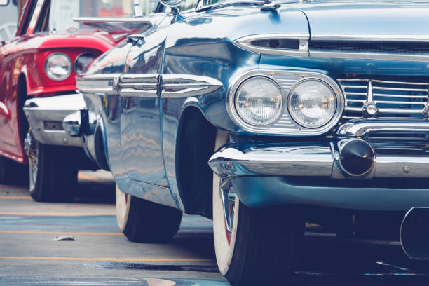 vintage car - classic cars stock photos and pictures