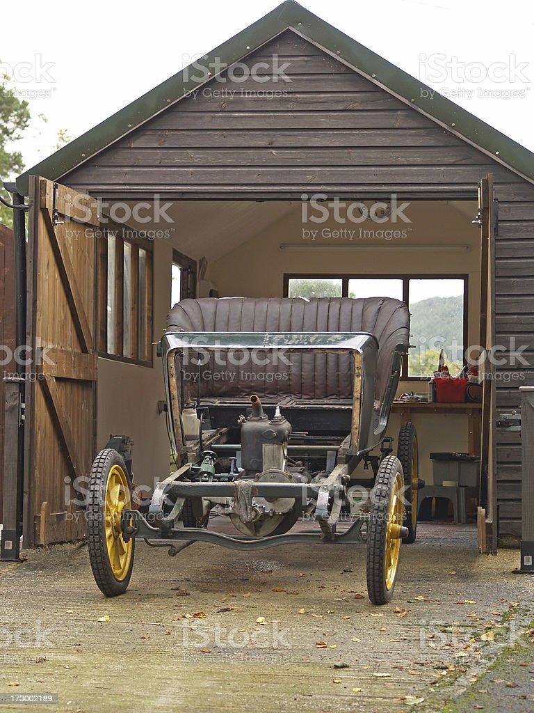 Vintage car restoration. royalty-free stock photo