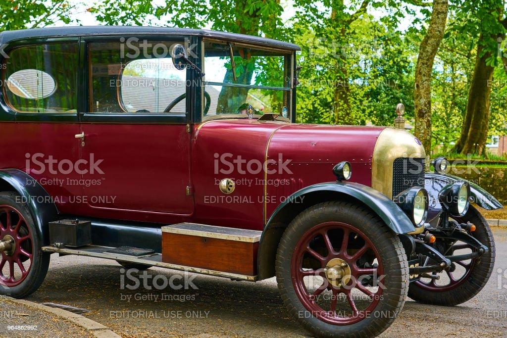 Huddersfield, UK - 2018: Vintage Car Side View royalty-free stock photo