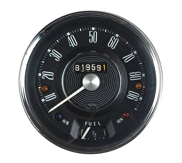 Vintage Car Speedometer From 1960s Classic stock photo